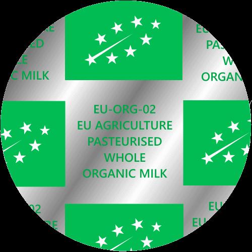 Whole Organic Glass Pint Milk Top