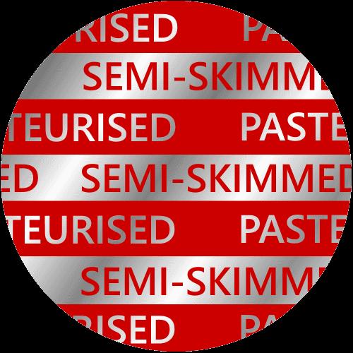 Semi Skimmed Glass Pint Milk Top