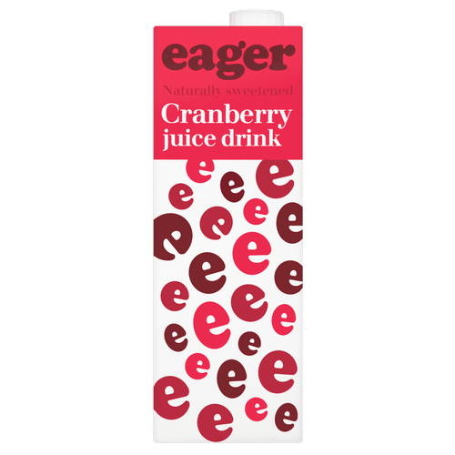 eager Cranberry Juice Drink Naturally Sweetened 1 Litre