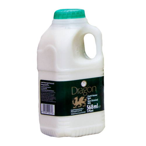 Semi Skimmed Milk  (568ml) 1 Pint Poly