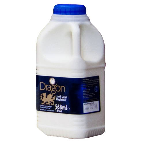 Whole Milk (568ml) 1 Pint Poly